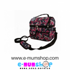V Cool Cooler Bag Army Pink (Double Compartments)