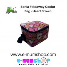 Jingle Jungle - Sonia Foldaway Cooler Bag (Hearts Brown)