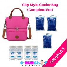 V-Cool Cooler Bag City Style Pink Complete Set