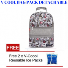 V Cool Back Pack Removable Grey